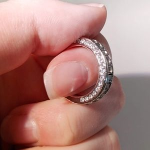 Cubic Zirconia and Sterling Silver Band